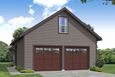Plan 72995da 2 Car Detached Garage Plan With Shop Full Bath And Storage Above In 2021 Garage Workshop Plans Garage Plans With Loft Garage Plan