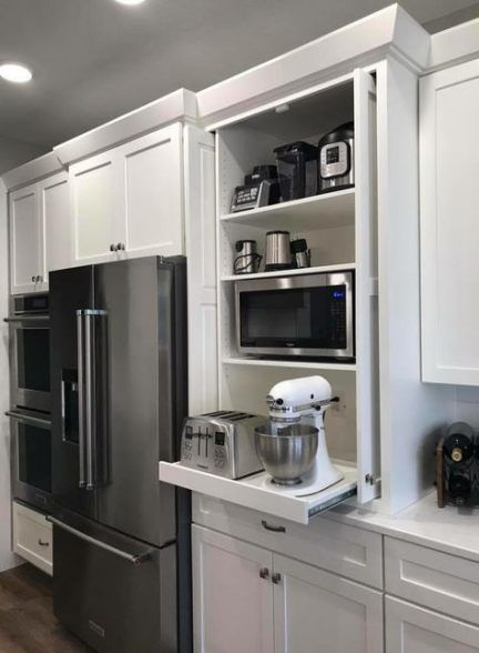 Best Kitchen Storage Hidden Appliance Garage 61 Ideas Kitchen Design Plans Hidden Kitchen Kitchen Design Small