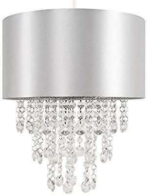 Details about Modern Ceiling Hanging Pendant Lamp Shade Crystal Droplet Chandelier Shades