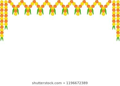 Attractive Creative Border Design Marigold Flowers Stock Vector Royalty Free 1516026206 Flower Border Flower Phone Wallpaper Poster Background Design