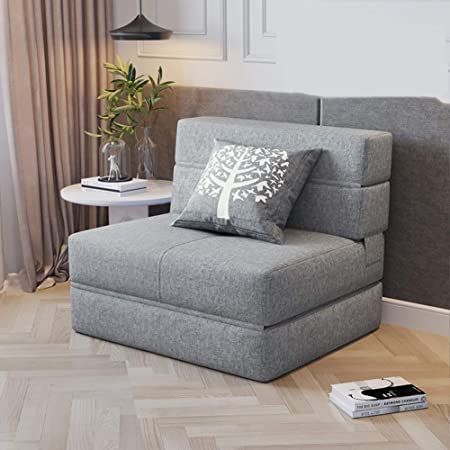 Wl 2 In 1 Sofa Bed 2020 New Single Sofa Bed Sleeper Foldable Portable Pillow Lounge Couch Living Room Office I Single Sofa Bed Couches Living Room Single Sofa