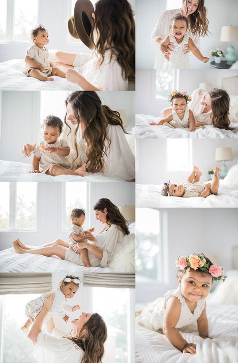 Elza Photographie Toronto family photographer  elzaphotographie.com  #baby #photography #bed #flower #mom #daugther