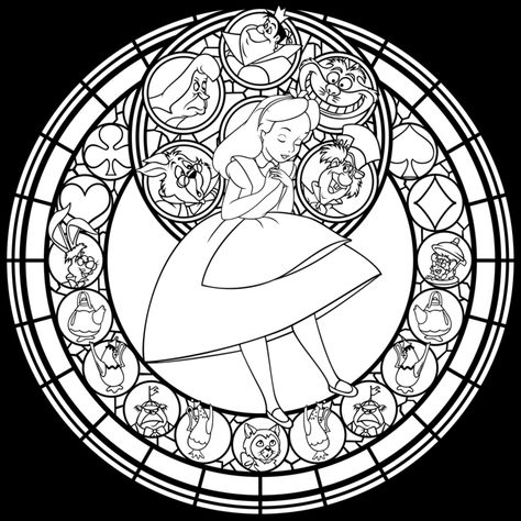 list of pinterest omalovanka disney stained glass pictures