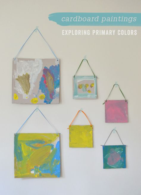 Cardboard Paintings: Exploring Primary Colors