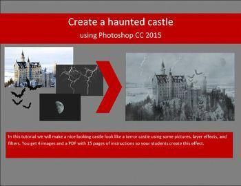 Haunted Castle With Photoshop Cs3 Cs4 Cs5 Cs6 And Cc 3 Sets Of Instructions Photoshop Step By Step Lessons In Photoshop Haunted Castle Photoshop Tutorial