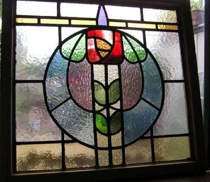 Glasgow Rose Stained Glass Window, Mirror Wall Panels Glasgow