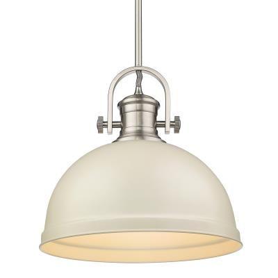 One Light Pendant Pewter Golden Lighting Pendant Light Bowl Pendant
