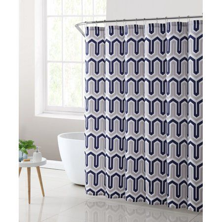 Home Fabric Shower Curtains Geometric Fabric Shower Curtains