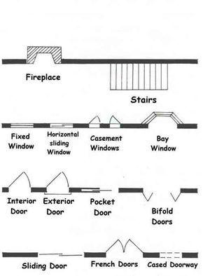 Blueprint Architectural Symbols Architecture Symbols Interior Design Student Floor Plan Design