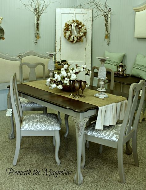 Beneath the Magnolias/French Linen chalk paint dining set