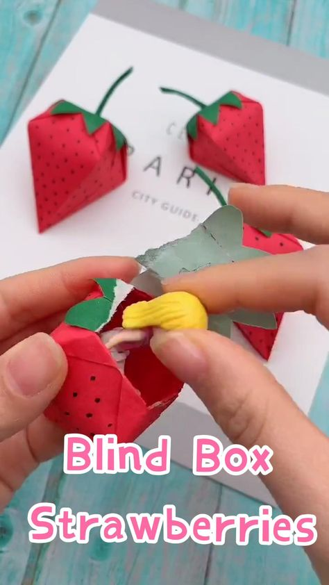 DIY - Blind Box - How to Make a Strawberry Paper Crafts