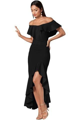 0cfc3e1a3af Black Sequin Mesh Overlay Poncho Party Dress ekkor  2019