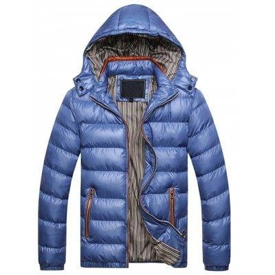 Zipper Contrast Slim Fit Quilted Jacket Sale Price Reviews Herren Winterjacken Warme Winterjacke Herren Winterparka