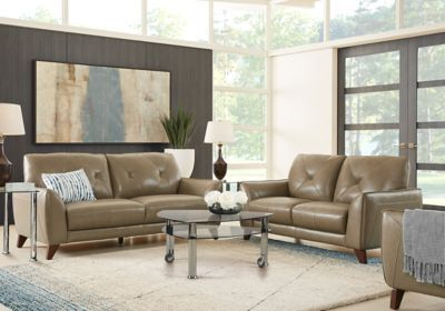 Terrific Salviano Beige Leather 7 Pc Living Room Living Room Sets Gmtry Best Dining Table And Chair Ideas Images Gmtryco