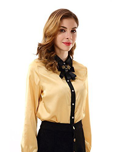 ebe0aa45e New Apperloth Women๏ฟฝs Long Sleeve Bow Tie Neck Button Down Chiffon T Shirt  Blouse Top Women fashion Tops. [$5.99 - 22.86] allfashiondress offers on top  ...