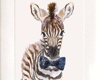 BOHO PANDA ART PRINT Poster Landscape Portrait Safari Animal Wildlife Watercolor