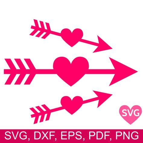 Download Heart Arrow SVG file, Love Arrow clipart #cricut | Arrow ...