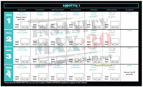 Insanity #max30 month 1 workout calendar Print this free calendar - insanity workout sheet