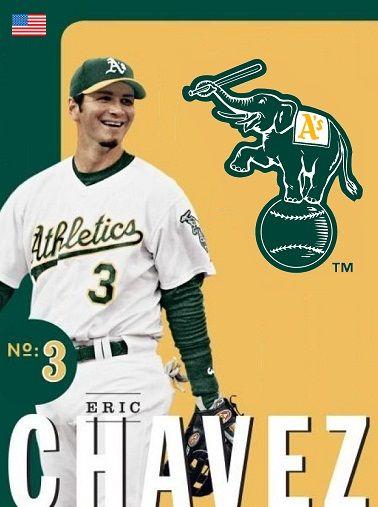 Eric Chavez Oakland A S Oakland Athletics Baseball Trading Cards