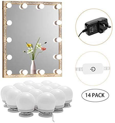 Hollywood Style Led Vanity Mirror Lights Kit Dimmable Vanity