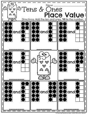 Place Value Worksheets Place Value Worksheets Kids Math