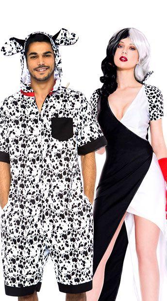 Dalmatian Chic Couples Costume Couple Halloween Costumes