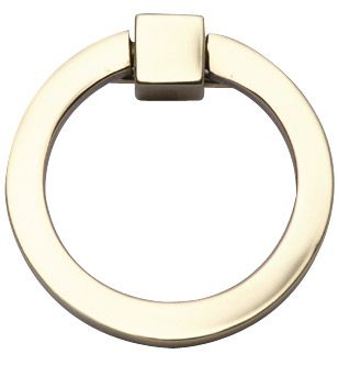 3 Inch Mission Style Solid Brass Ring Pull (Polished Brass Finish ...