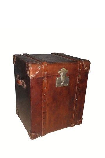 Leather Trunk Side Table Trunks Chests