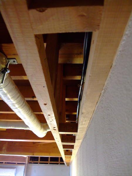 ふかし壁を作る 壁 配線を隠す リビング 和室