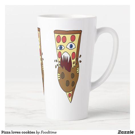 Pizza loves cookies latte mug