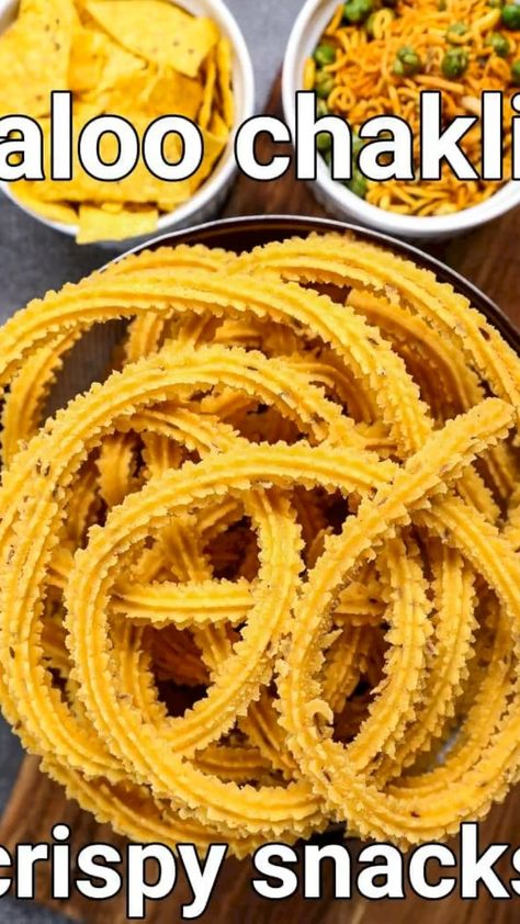 potato murukku recipe | aloo chakli recipe | aloo ki chakli with detailed photo and video recipe. and easy, simple and crispy chakli recipe made with a combination of potato, besan and rice flour. it is an ideal alternative to the regular rice and urad dal as this chakli comes with loaded potato starch. the speciality of these chaklis are, it is crisp and brittle at the outside and soft and moist at the inside due to the use of potato and besan.