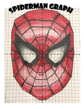 Practice Graphing In All Four Quadrants Of The Coordinate Plane With This Really Cool Spiderman Graph The Students Will Spiderman Coordinate Graphing Graphing