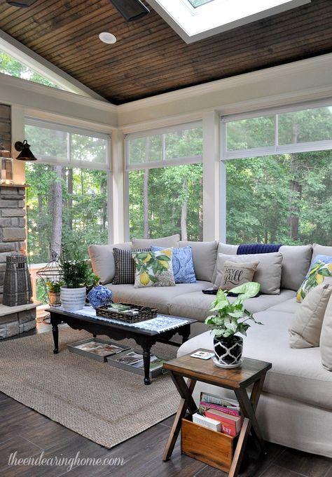 Cozy Sunroom | Phillip Mitchell Design { L Shaped Couch For Sun Porch} |  Porches | Pinterest | Sunroom, Porch And Cozy