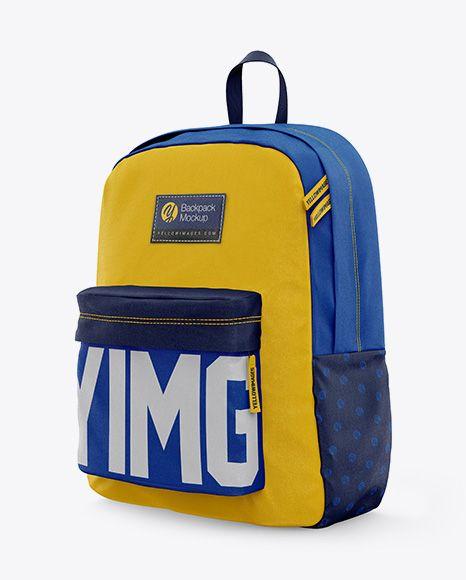 Download Backpack Mockup Half Side View In Apparel Mockups On Yellow Images Object Mockups In 2021 Mockup Psd Badminton Bag Mockup