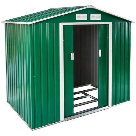 Abri De Jardin En Metal 2 7 M Toiture 2 Pans Vert Tectake Tectake Manomano 40851758 Deal Plaza Abri De Jardin Abri Toiture