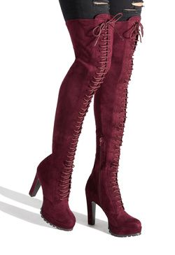 REMI LACE UP BOOT | Thigh high boots