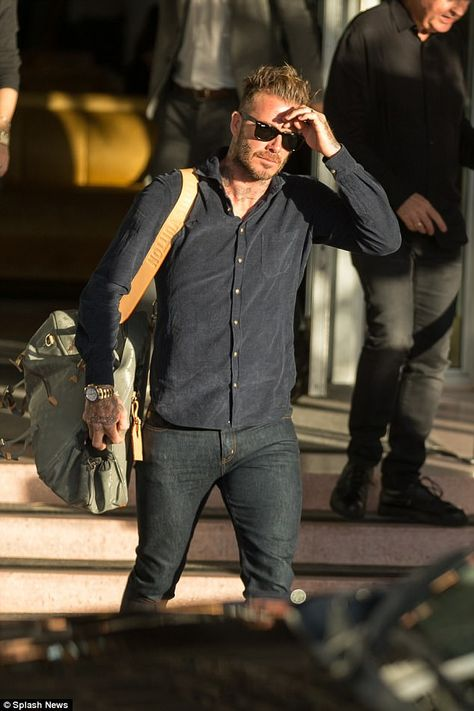 David Beckham proved he was still on a high after launching his Major League Soccer franchise as he basked in the glorious Miami sunshine while leaving his hotel on Tuesday.