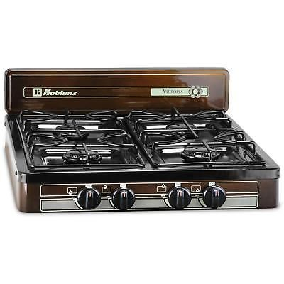 4 Burner Outdoor Gas Stove Camping Cooking Tabletop Propane Portable Bronze New Propane Stove Outdoor Stove Gas Stove