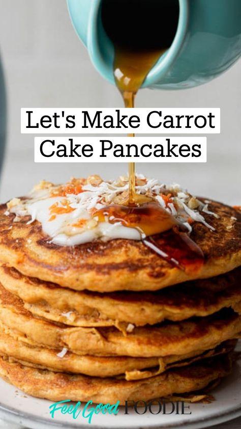Let's Make Carrot Cake Pancakes