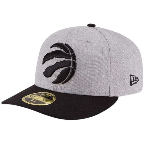 b001bd387 Men s Toronto Raptors New Era Heathered Gray Black Two-Tone Low Profile  59FIFTY Fitted Hat