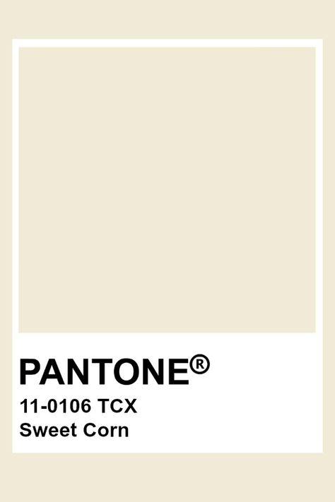 Pantone Sweet Corn