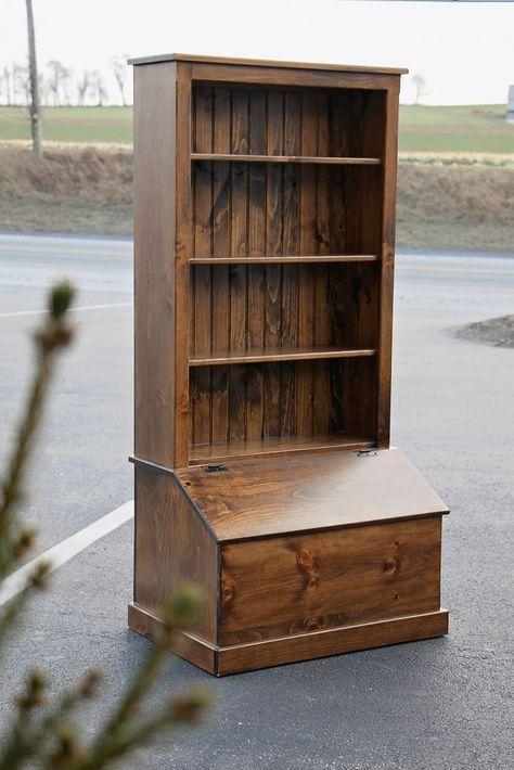 Toy Box Bookcase Combo In 2020 Amish Furniture Rustic Furniture Cool Furniture