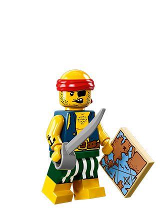 Lego series 14 zombie pirate mini-figure #2 of 16 with checklist /& unused code