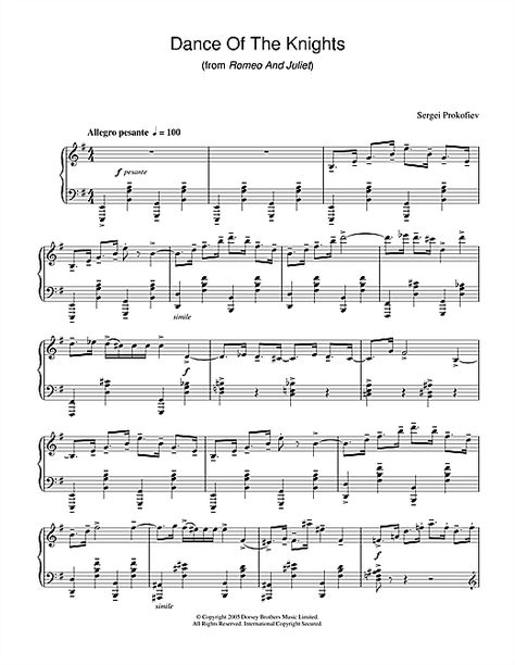 Https Supernoty Cz Skladby Sergei Prokofiev Dance Of The Knights Tanec Rytiru 20474 Prokofiev Sheet Music Notes Sergei Prokofiev