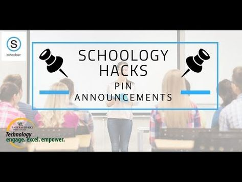 Schoology Hacks   Pin Announcements - YouTube Elementary Teacher, Elementary Schools, Primary Education, Educational Leadership, Educational Technology, High School Counseling, Learning Quotes, Education Quotes, Teachers Aide