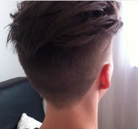 Showing Gallery For Undercut Hairstyle Men 2014 Back View