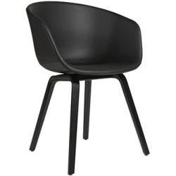 Oak Chairs About A Chair Aac23 Upholstered Armchair Leather 4 Legs Hay Black Hayhay Boysbedroom In 2020 Oak Chair Leather Armchair Upholstered Arm Chair