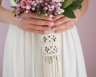 Wedding Bouquet Wrap Alternative Wedding Bouquet Holder Boho