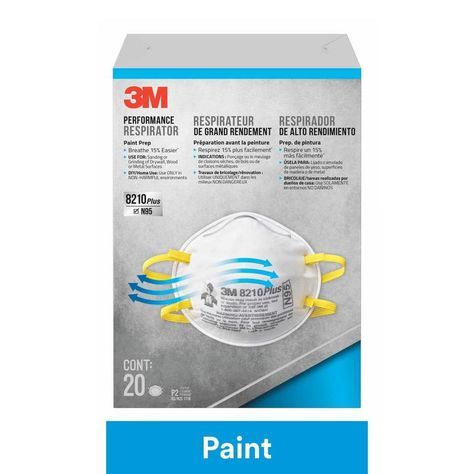 3m performance respirator mask 8210 x n95