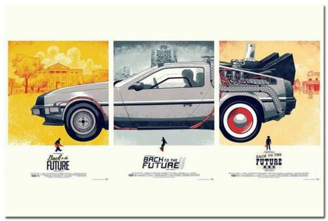 Back To The Future Movie Silk Poster 13x20 24x36 inch
